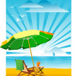 Stock Vector: Beach umbrella