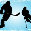Hockey players on the ice — Stock Vector