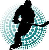 New hockey players (symbol) — Stock Vector