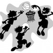 Stock Vector: Funny basketball