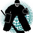 Stock Vector: Goalkeeper hockey