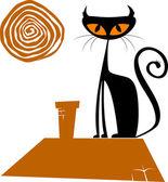 黑猫 — 图库矢量图片
