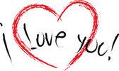 Aşkım — Stok Vektör