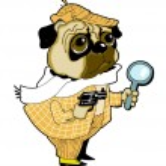Sherlock holmes dog — Stock Vector
