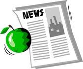 Apple-news — Stock Vector