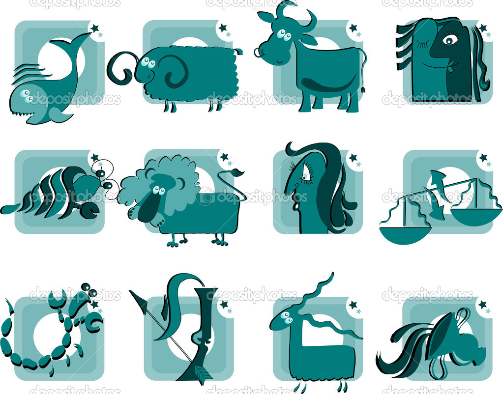 Ridiculous and cheerful zodiacal signs — Stock Vector #2042537