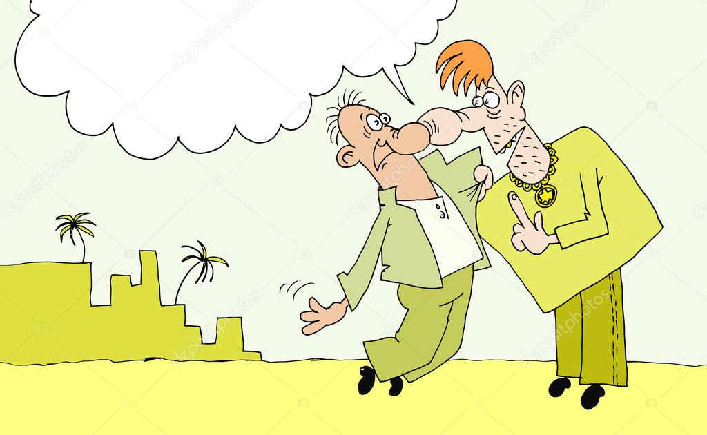 Two men quarrel in the street cities — Stock Vector #2044231
