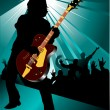Stock Vector: Rock and roll concert