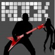 Rock musician — Stock Vector #2182130