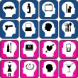Thoughts in a head — Stock Vector