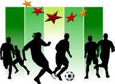 Football match — Stock Vector