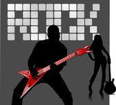 Musicien de rock — Vecteur