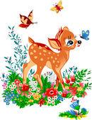 Young deer — Stock Vector