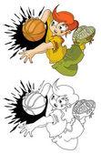 Super-basketball — Stock Vector