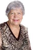 Beautiful senior woman isolated on white — Stock Photo