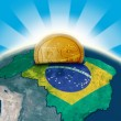 Brazil moneybox - Stock Photo