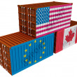 Stock Photo: Trade containers USEU Canada