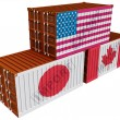 Stock Photo: Trade containers USJapCanada