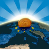 EU moneybox — Stock Photo
