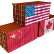 Stock Photo: Trade containers USChinCanada