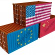 Stock Photo: Trade containers USEU China