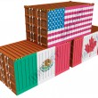 Stock Photo: Cargo containers USMexico Canada
