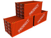 Containers with Product — Stock Photo