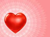 バレンタイン カードのハート — ストック写真