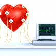Heart cardiogram — Stock Photo