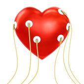 Heart with sensors — Stock Photo