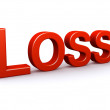 Stock Photo: Loss 3D sign