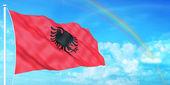 Albania flag — Stock Photo