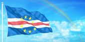 Cape Verde flag — Stock Photo