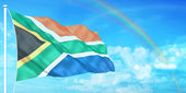 Bandera de sudáfrica — Foto de Stock