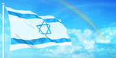 Israel flag — Stock Photo
