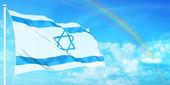 Israel flag — Stock Photo