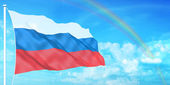 Russia flag — Stock Photo