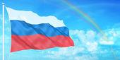 Russia flag — Stock Photo