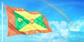 Grenada flag — Stock Photo
