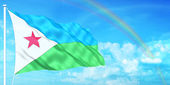 Djibouti flag — Stock Photo