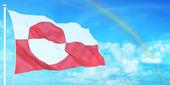 Greenland flag — Stock Photo