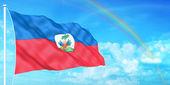 海地国旗 — 图库照片