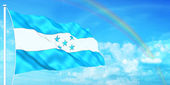 Honduras flag — Stock Photo