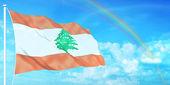 Lebanon flag — Stock Photo