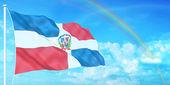 Dominican Republic flag — Stock Photo