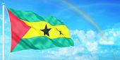 Sao Tome & Principe flag — Stock Photo