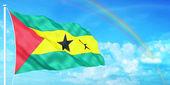 Sao Tome & Principe flag — Stock Photo
