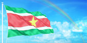 Suriname flag — Stock Photo