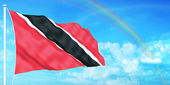 Trinidad & Tobago flag — Stock Photo
