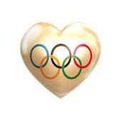 I love Olympic Games — Stock Photo